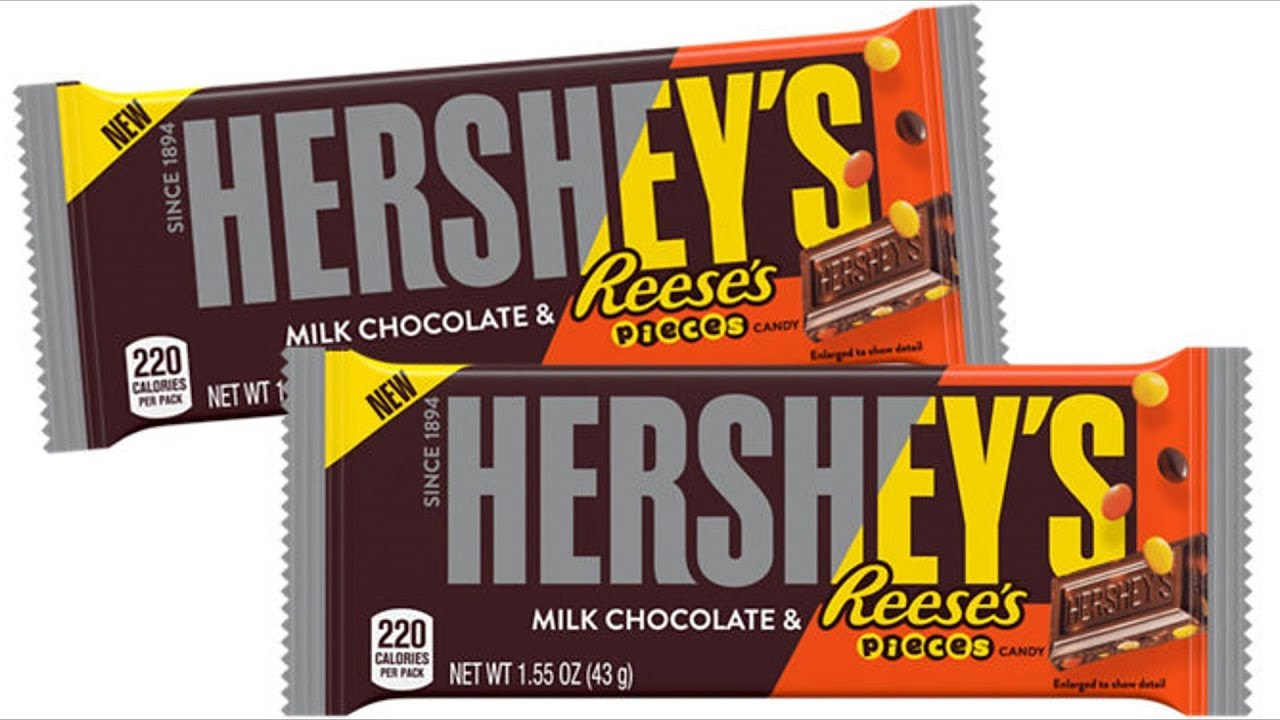 We Shorts Hersheys Milk Chocolate Bar With Reeses Pieces Candy