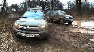 Тест-драйв Renault Duster против UAZ Patriot в грязи!