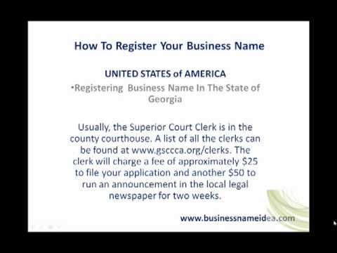 How to register business name in the State of Georgia