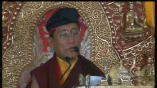 2012-03-02 morning - GuruYoga teaching by HH Gyalwang Drukpa & Mandala offering