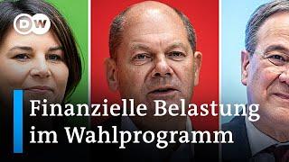 Was bedeuten die Wahlprogramme der Parteien für den Geldbeutel? | DW Nachrichten