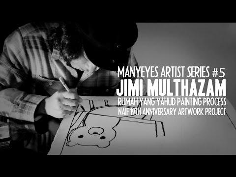 Jimi Multhazam Painting Process | MANY EYES TV