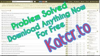How to download torrent in kickass [Katcr.to] without creating free account 100% works