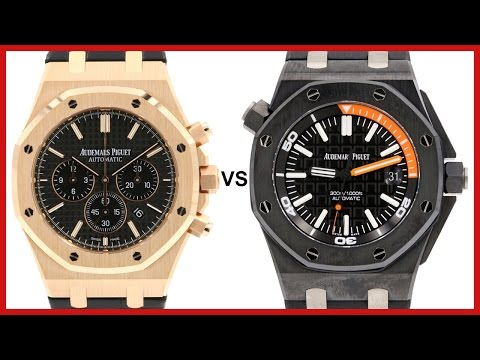 ▶ Audemars Piguet Royal Oak Chronograph vs. Royal Oak Offshore Diver COMPARISON