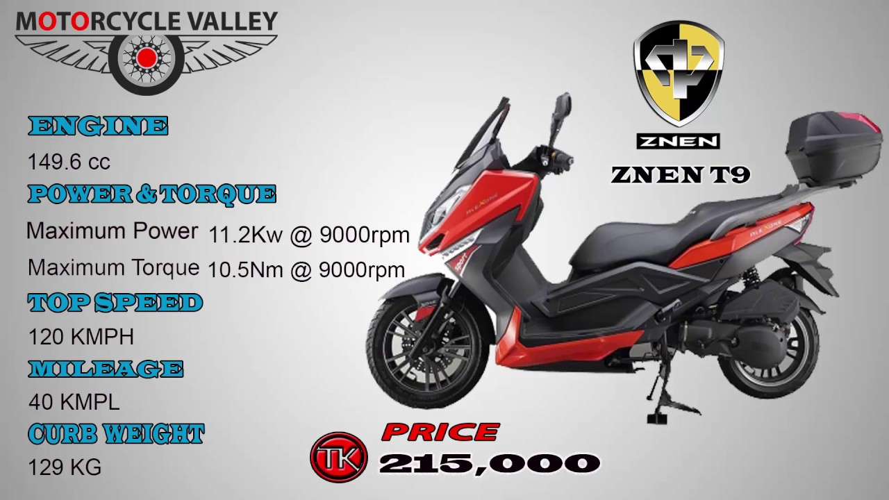 ZNEN T9 Scooter Features and Price  Motorcycle video review