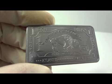 1 oz iron buffalo bullion bar .999 fine
