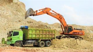 Excavator Dump Truck Working On Airport Construction Proyek Bandara NYIA Kulon Progo