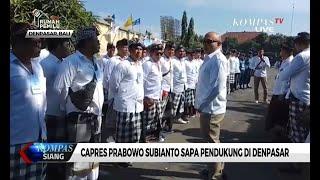 Kampanye di Denpasar, Prabowo Kembali Sampaikan Visi & Misi Bila Terpilih
