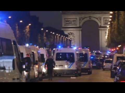 French presidential election 'terror attack': Champs-Élysées - Arc de Triomphe