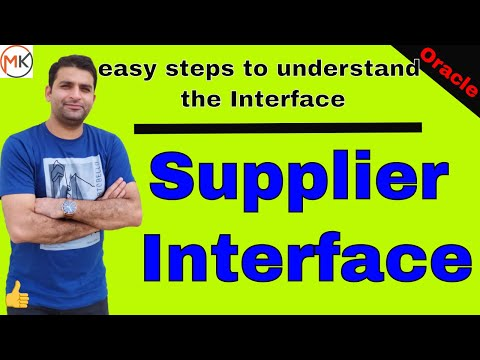 Supplier Interface In Oracle Apps | Oracle Shooter