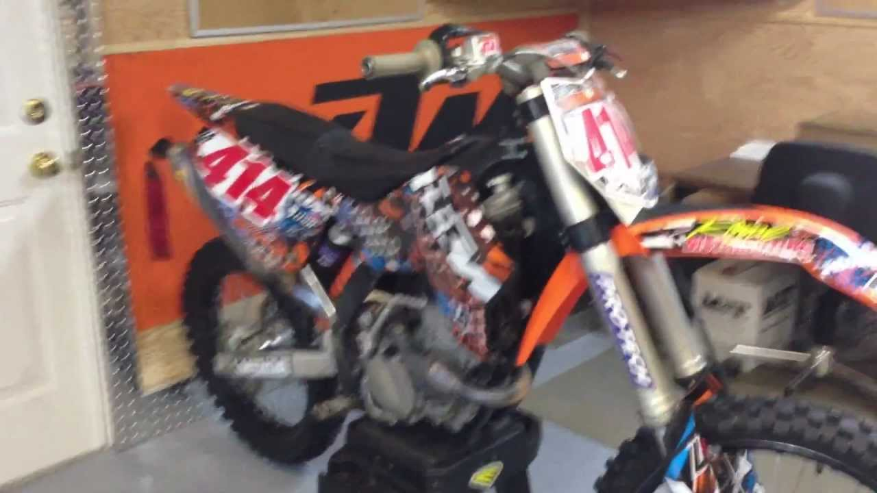the dirt scoot (2009 ktm 250 sx-f) - youtube