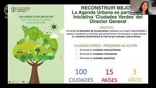 Jornada de Lançamento do Marco da FAO para a Agenda Alimentar Urbana (Manhã)