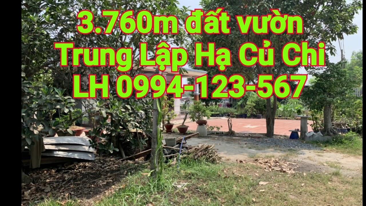 Bán 1000m2 đất vườn Củ Chi trồng rau thả gà giá 600k/1m2