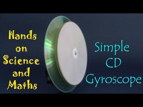 Simple CD Gyroscope | English