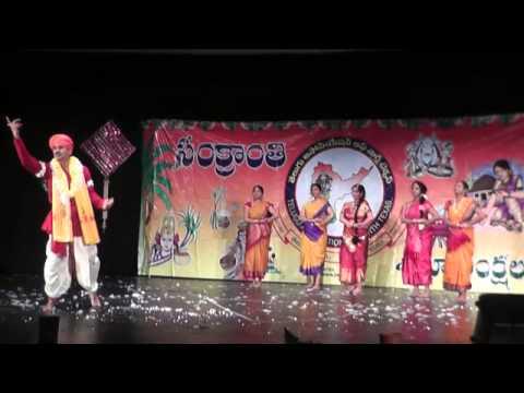 Palle Pandugalu (Folk Dance) - Choreogaphy Rupa Banda at TANTEX Sankranthi on Jan 18th 2014