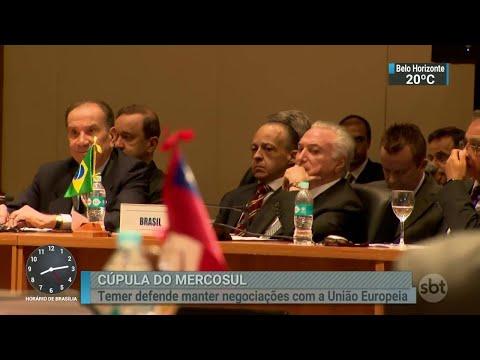 Mercosul pede que Venezuela estabeleça meios para ajuda humanitária | SBT Brasil (18/06/18)