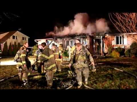 HOUSE GUTTED BY FIRE IN PORT JEFF STATION, NY