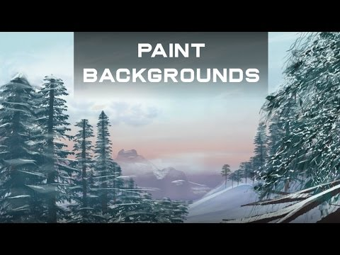 How to Paint Backgrounds for Flash Animation