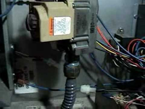 Replacing the furnace ignitor in my central unit.