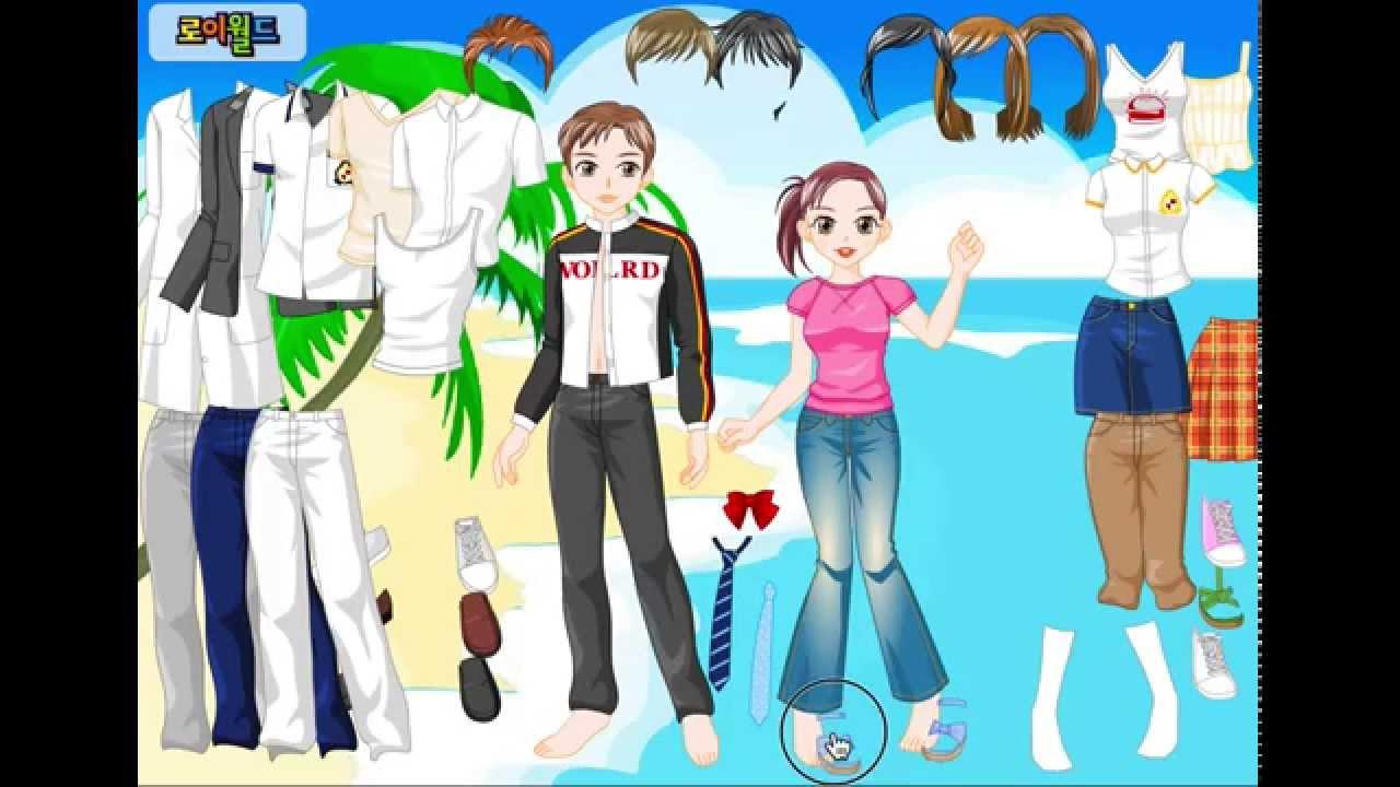 Trò chơi game thời trang Nam Nữ 2 người chơi thiết kế trang phục quần áo