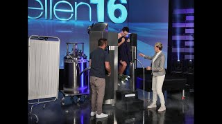 Ellen Shocks Andy to the Core with a Surprise Cryotherapy Session