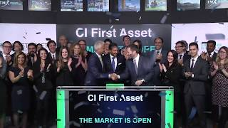 CI First Asset opens Toronto Stock Exchange, February 20, 2020