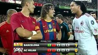fc barcelona vs ac milan penalty shootout trofeo joan gamper 25 08 10
