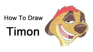 How to Draw Timon (The Lion King)