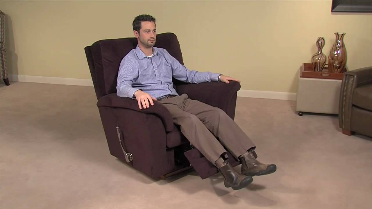 Rocking Chair Footrest Bedroom Chairs Target Simple Operation Of A La-z-boy Reclina-rocker - Youtube