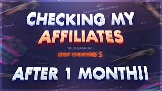 Checking my affiliates after ONE MONTH.. *DATDROP*