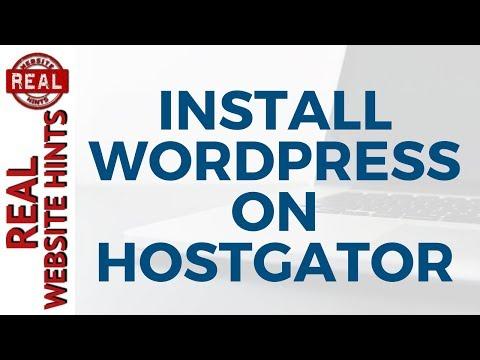 How To Install WordPress on HostGator using Hostgator WordPress Hosting.