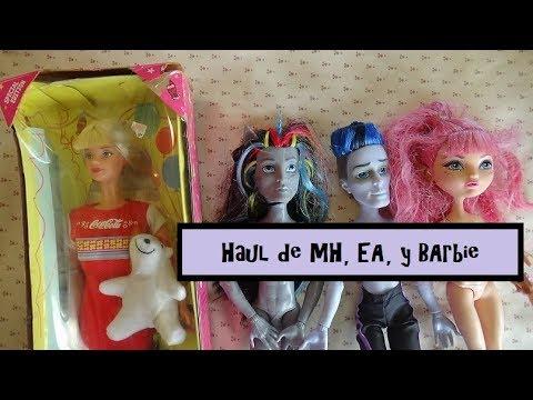 Haul de Monster High, Ever After High y Barbie