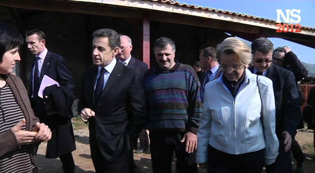 Nicolas Sarkozy rencontre les agriculteurs d'Itxassou