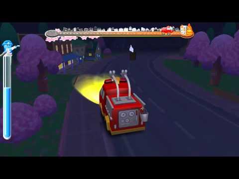 Игра про пожарную машину - Пожарная машина тушит пожар