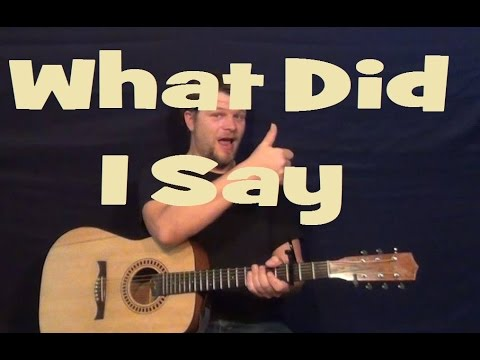 What'd I Say (Ray Charles) Easy Strum Chord Guitar Lesson Licks Tab How to Play Tutorial