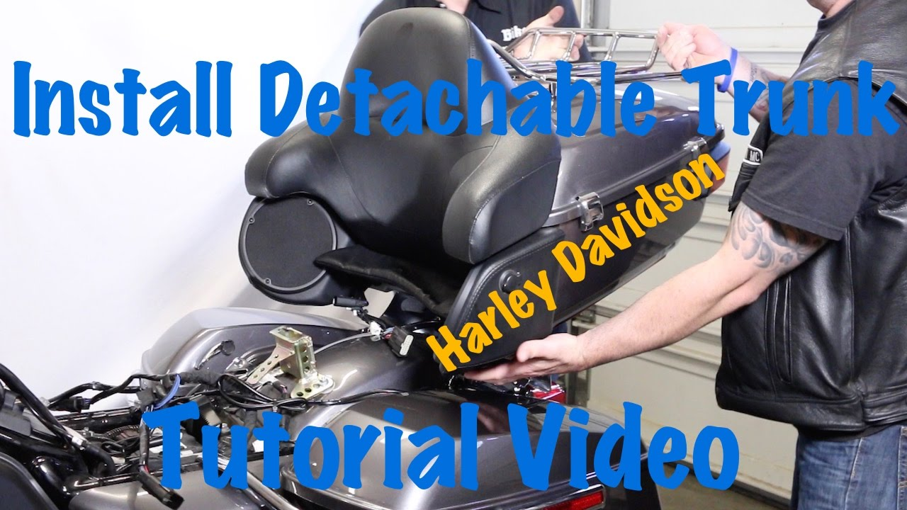 Install a Harley Davidson Detachable Trunk, Hardware, & Relocate Antennas & Signals | Touring