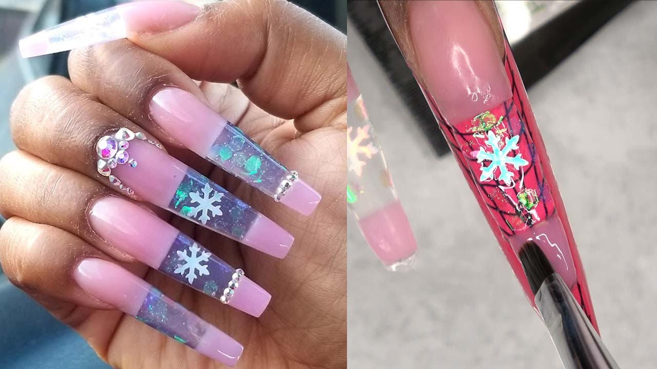 The Best Nail Art Designs Compilation on YouTube , Acrylic Nails , Polygel  Nails