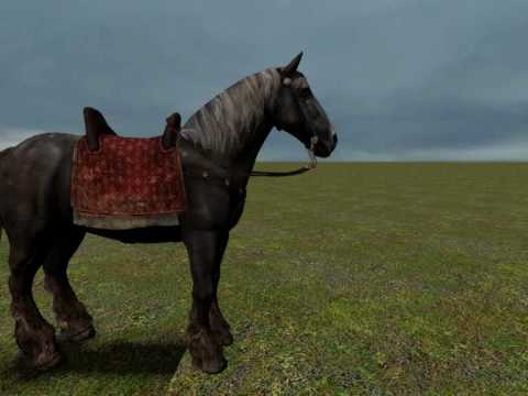 GMOD - Crussaria Rideable Horse Test