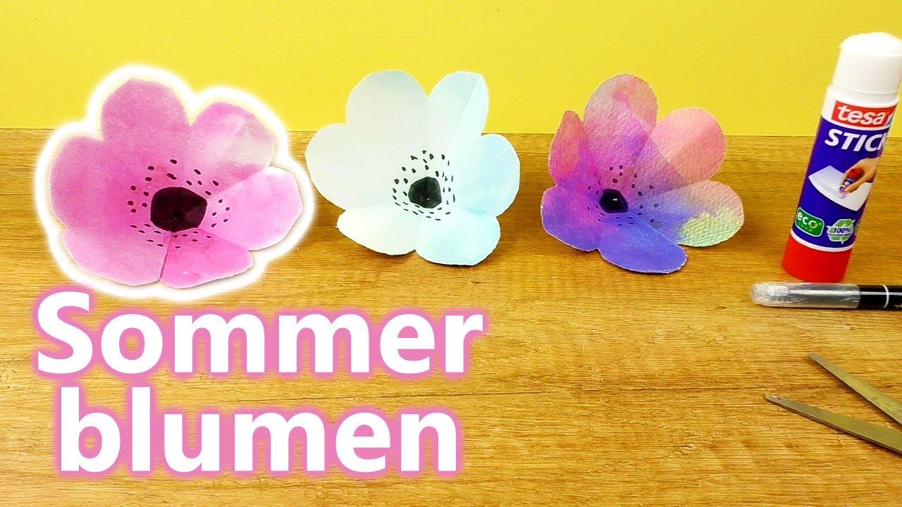 Basteln Sommer sommer blumen selber machen basteln mit kindern wunderschöne