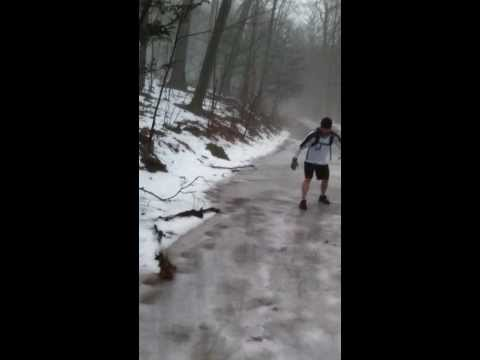 1-11-14 morning 12.5 mile trail run at Blue Hills Reservation in Milton, MA