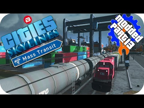 Cities Skylines Gameplay: UNIQUE CARGO GOODS TRAINS Cities: Skylines Mods MASS TRANSIT DLC Part 13