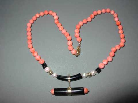 Antique And Vintage Coral Jewelry Set