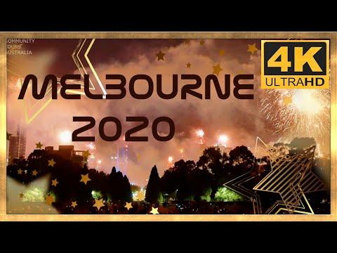MELBOURNE AUSTRALIA 2020 NEW YEARS EVE FIREWORKS 4K