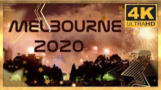 MELBOURNE AUSTRALIA 2020 NEW YEARS EVE FIREWORKS 4K