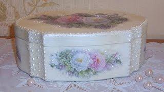 Как сделать шкатулку своими руками. Свадебная шкатулка(Как сделать шкатулку. Эта шкатулка была сделана на заказ для свадьбы молодой девушки http://peta4ok.3dn.ru/news/master_klass..., 2014-07-15T13:38:49.000Z)