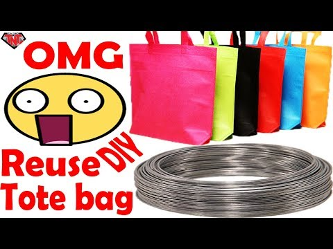 DIY Wall Hanging || How To Make Wall Hanging Out Of Shopping Tote Bags