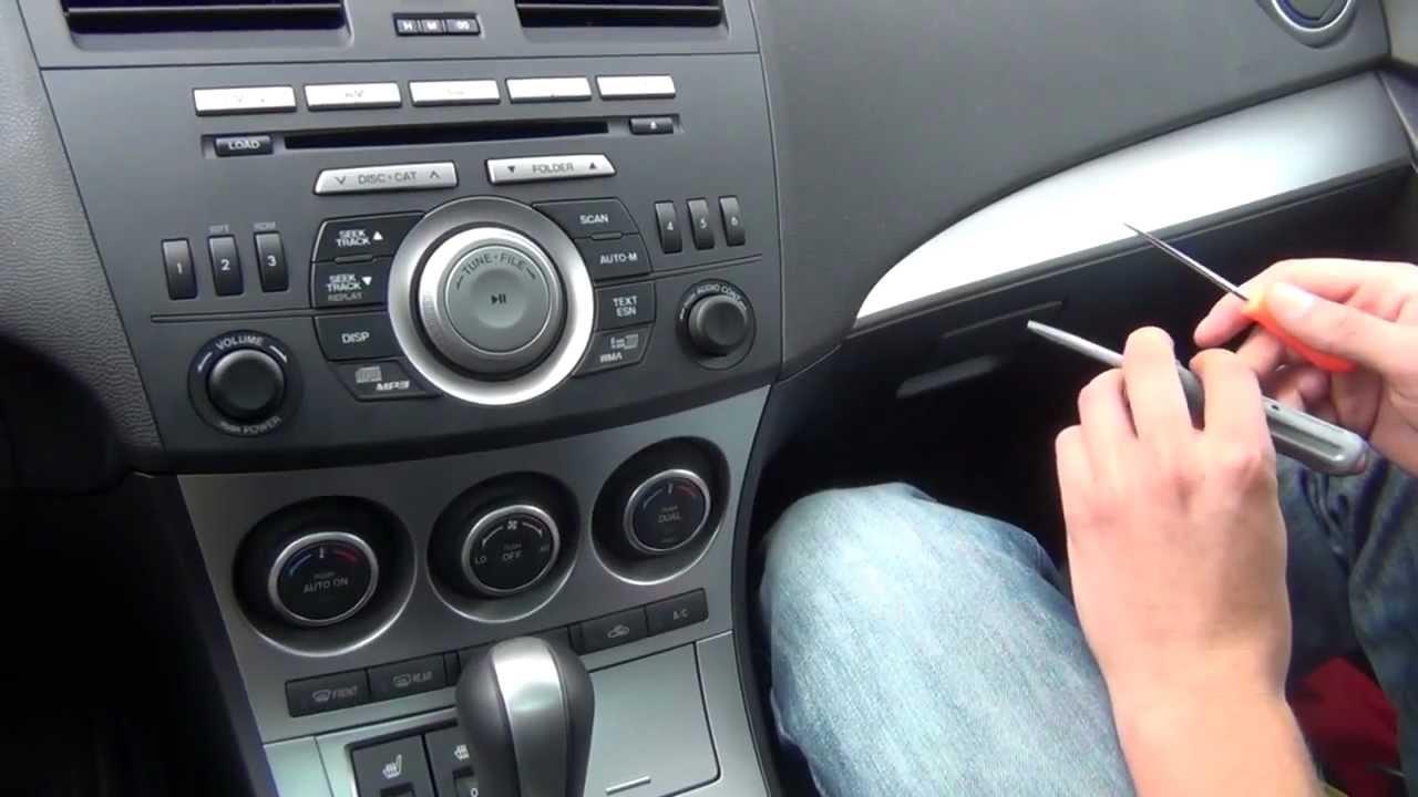 GTA Car Kits  Mazda 3 2010, 2011, 2012 install of iPhone, iPod and iPad adapter  YouTube
