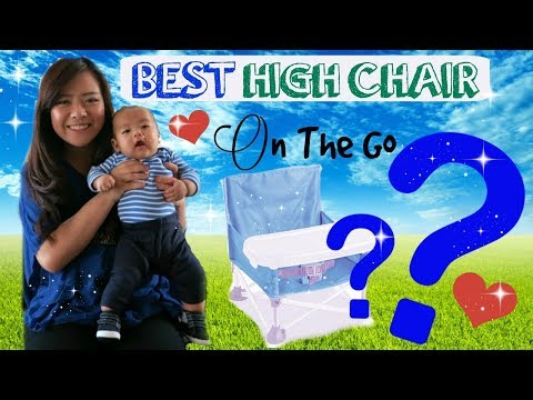 BEST PORTABLE HIGH CHAIR  HOW TO & REVIEW   Summer Infant Pop n Sit Portable Booster   Angie Lowis