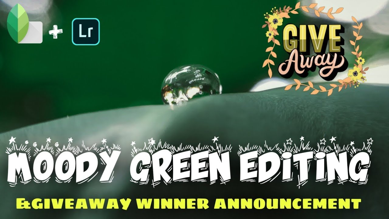 MOODY GREEN EDITING AND GIVEAWAY WINNER ANNOUNCEMENT 🤩