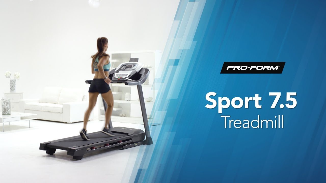 the proform sport 7 5 treadmill for home workouts youtube